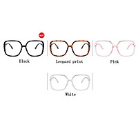 Fashion Spectacles Large Frame Square-framed Chic Decorative Anti Blu-ray Glasses