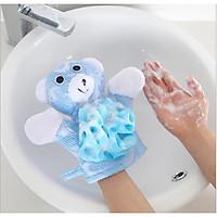 Găng tay tắm bé kiểu dáng hoạt hình, bông tay tắm xinh xắn mềm mại-BB52-BTamHH (giao hình ngẫu nhiên)
