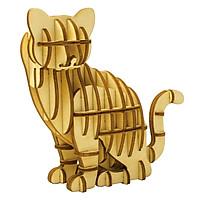 Lắp Ghép Gỗ 3D Trang Trí Con Mèo Ki-gu-mi