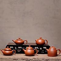 combo 5 ấm trà mini gốm tử sa màu đỏ trang trí