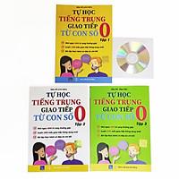 Combo 3 sách: Tự học tiếng Trung giao tiếp từ con số 0 Tập 1 + Tập 2 + Tập 3 + DVD Audio tài liệu
