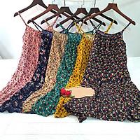 Váy lanh hai dây HOA NHÍ đuôi cá vintage xinh xắn, đáng yêu cho các nàng