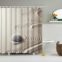 Digital Printing Bath Shower Curtain with Several Hooks