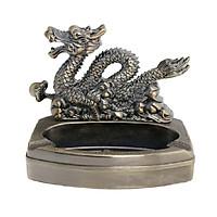 Gạt tàn 2in1 kiêm bật hình CON RỒNG đồ trang trí đế kim loại chống cháy