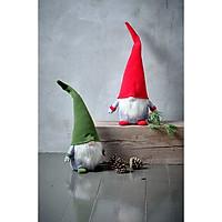 Thần lùn giáng sinh JYSK Hermod vải polyester xanh lá/đỏ DK15xC53cm