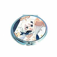 Gương tròn IN HÌNH Genshin Impact bỏ túi cầm tay 2 mặt dễ thương tiện lợi