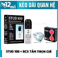 Chay Xịt (Anh Quốc) Stud 100 kéo dài thời gian + Bao Cao Su TTC Four In Love