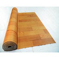 Thảm nhựa simili trải sàn vân gỗ màu vàng siêu bền, chống nước tuyệt đối