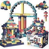Bộ xếp hình lego 260 chi tiết tặng kèm quạt mini 7 cánh 3 tốc độ (màu ngẫu nhiên)
