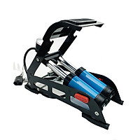 Bơm xe máy  - Bơm xe đạp chân - Bơm đạp chân 2 ống đa năng - Bơm hơi đạp chân mini cho ô tô, xe máy, xe đạp, bơm bóng, phao bơi
