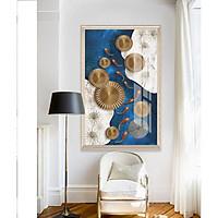 Tranh treo tường phòng khách, phòng ngủ -Tranh treo 1 tấm dọc M26667/ Gỗ MDF cao cấp phủ kim sa/ Chống ẩm mốc, mối mọt/Bo viền góc tròn