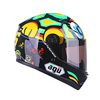 Mũ bảo hiểm fullface AGU Tem Rùa - Tặng túi đựng nón thương hiệu