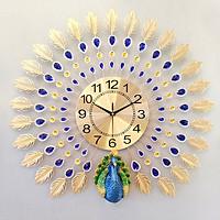 Đồng hồ treo tường chim công DN16 (Cỡ lớn 70x70cm)