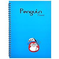 Sổ Lò Xo Penguin (18x25cm) - Mẫu 2 - Xanh Dương