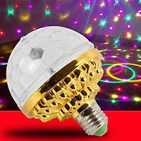 Rotating LED RGB Multi Changing Color Crystal  Crystal  for Disco Birthday Party Club Bar Decor