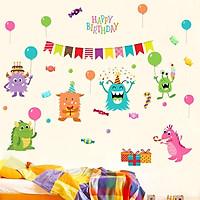 Decal dán tường chúc mừng sinh nhật cho bé XL8209