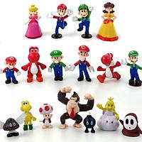 Bộ đồ chơi 17 mô hình nhân vật Game Super Mario (mẫu 02)