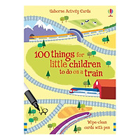 Flashcards tiếng Anh - Usborne 100 Things for little children to do on a train
