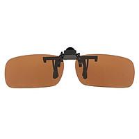Polarized Lens Anti Glare Clip On Flip Up Sunglasses Glasses Driving Green