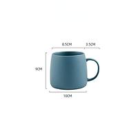 Tách cà phê gốm 500ml / tách trà dung tích lớn có thìa nắp / tách cà phê cappuccino sữa ăn sáng tại nhà