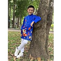 Áo dài cách tân cao cấp dành cho bé trai, họa tiết đội lân múa chào xuân - Quần áo trẻ em - SockiMall (190512)