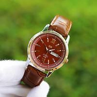 Đồng hồ nam dây da SE3235 mặt kính chống nước chống xước thiết kế lịch lãm, sang trọng