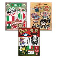 VESPA ITALY BIKER - Combo 3 Hình dán cao cấp Premium Sticker