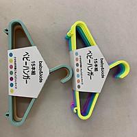 Combo 2 Set Móc treo quần áo trẻ em cao cấp Baby&Kids Kobini Nhật Bản 29x14cm (Combo 2 set 30 cái - Giao màu ngẫu nhiên)