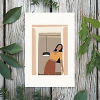 Tranh Poster Phong cách tối giản, Bohemian, Lady, Lifestyle, Fashion, Minimalism, Pastel, SOYN PTK002