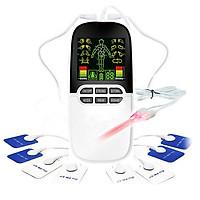 Máy massage xung điện pin sạc 8 miếng dán đèn hồng ngoại trị liệu JY-A818