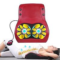 Đệm (máy) massage lưng xoay xoa bóp, rung, hồng ngoại nhiệt sưởi ấm YIJIA YJ-M6 - Dùng được trên ô tô