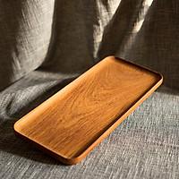 Khay gỗ đựng đồ ăn hình chữ nhật 100% bằng gỗ gõ đỏ (Doussie Wood)