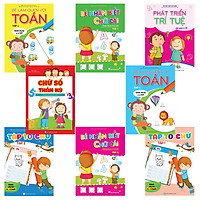 Combo 8 cuốn: Bé học IQ (4-5 tuổi)