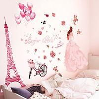 Decal dán tường Paris tình yêu 2 AmyShop DKN062