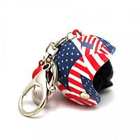 Móc khóa nón bảo hiểm - Cờ Mỹ