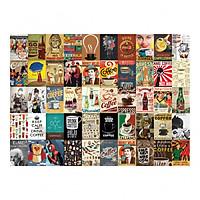 Set 50 tấm 22x30cm decal dán tường trang trí decor quán nhà cửa chủ đề Cà Phê - Coffee
