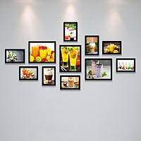 Bộ khung ảnh Treo Quán Cafe (Cà Phê), Nhà Hàng, Khách Sạn Đẹp Ấn Tương, Độc Đáo, Không Gian Đẹp Tặng Kèm bộ ảnh như hình mẫu, đinh treo tranh và sơ đồ treo PGC274