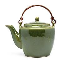 Ấm trà dáng mới   Đông Gia - xanh  pha lê Crystal 14