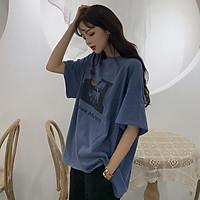 Áo thun nữ form rộng phong cách Hồng Kông