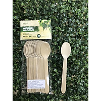 Muỗng (Thìa) Gỗ 16cm -Túi 20 Muỗng - KEGO| Sản xuất tại Việt Nam| 100% phân hủy tự nhiên| An toàn và tiện lợi| Bảo vệ môi trường| Dùng muỗng thìa gỗ cho picnic, party sinh nhật