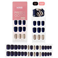 Bộ 30 Móng Tay Gel Dán Press & Go Kiss New York Nail Box - Midnight In New York (KPNS10K)