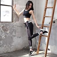 Bộ Quần Áo Tập Yoga Gym Nữ Cao Cấp, Form Chuẩn Tôn Dáng, Áo Croptop Có Mút - LUX72
