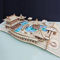 Đồ chơi lắp ráp gỗ 3D Mô hình Nhà vườn Tô Châu Laser