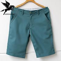 Quần short kaki nam vải đẹp cotton dày mặc mát loại quần short dây kéo
