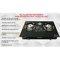 Bếp Gas Đôi Mặt Kính Seika SKB606 - Hàng Chính Hãng