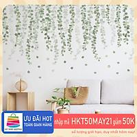 Sticker Giấy Dán Tường Decal Dán tường Mẫu Hoa Lá Cực Xinh ZH002