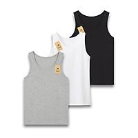Combo 3 áo ba lỗ nam mềm mịn siêu thoáng mát, thấm hút tốt, co giãn tốt ABL01-1 PigoFashion