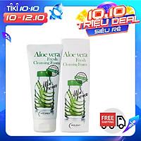 Sữa Rửa Mặt Lô Hội Làm Trắng- Cấp Ẩm Holikey Aloe Vera Fresh Cleansing Foam