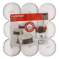 Set 9 Nến Tealight Trắng Không Khói Size Jumbo - Đường Kính 6cm
