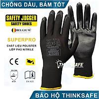 Găng tay chống dầu Safety Jogger Superpro găng tay đa năng, ôm tay thoáng khí, chống trơn trượt (đen)